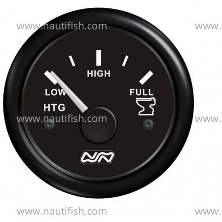 Manômetro Combustível 0-190 ohm, Preto