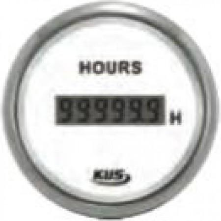 Manómetro Conta horas digital Branco kus