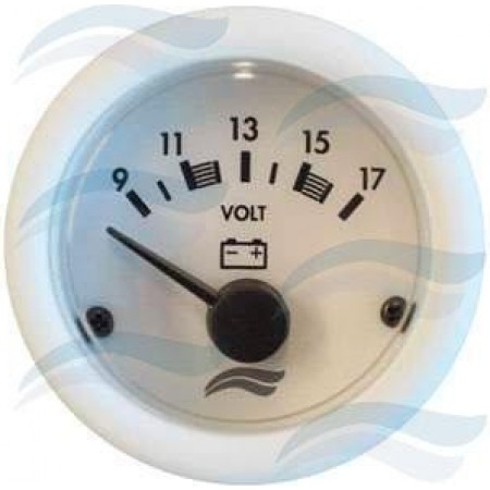 Manómetro Voltímetro 12 V - Branco