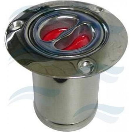 Bocal combustível Inox, 50 mm