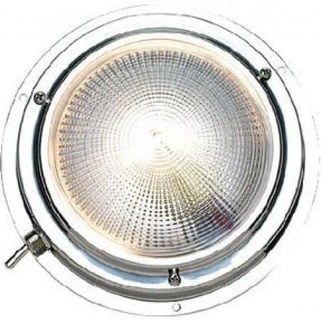 Luz Branca de Cabine em Aço Inox 102mm - Seachoice