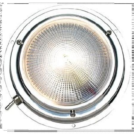 Luz Branca de Cabine em Aço Inox 127mm - Seachoice