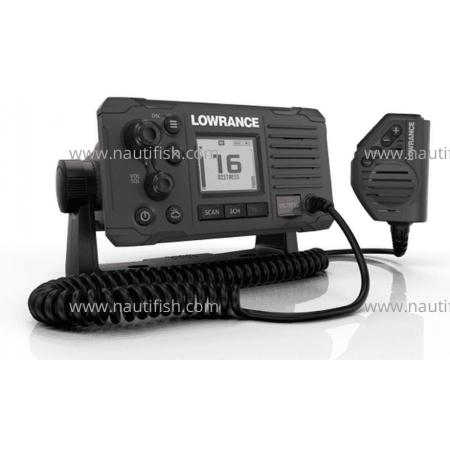 Link-6S Classe D DSC Rádio VHF, preto, com sinal GPS