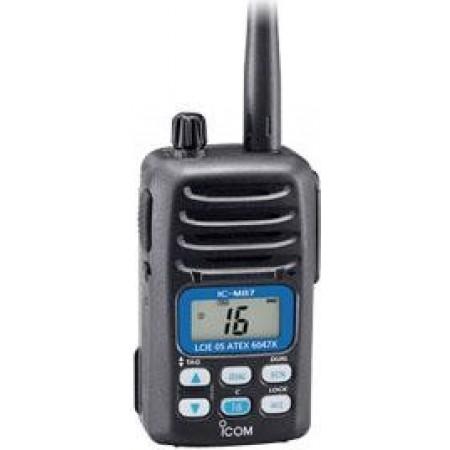 RADIOTELEFONE PORTÁTIL MARÍTIMO VHF IC-M87 ATEX
