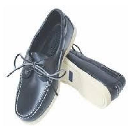 Sapatos azuis com sola branca 38