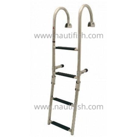Escada articulada c/ montagem em alcatrate, 2+2 degraus, 270x1020mm