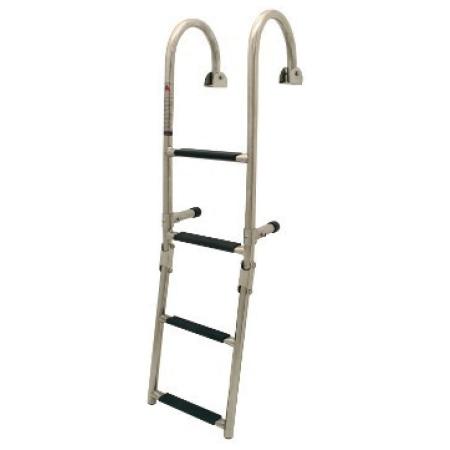 Escada articulada c/ montagem em alcatrate, 3+2 degraus, 270x1250mm