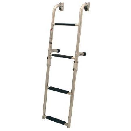 Escada articulada p/ painel de popa em aço inox 316, 2+1 degraus, 200x800mm