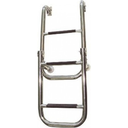 Escada articulada aço inox 316 2+3 degraus