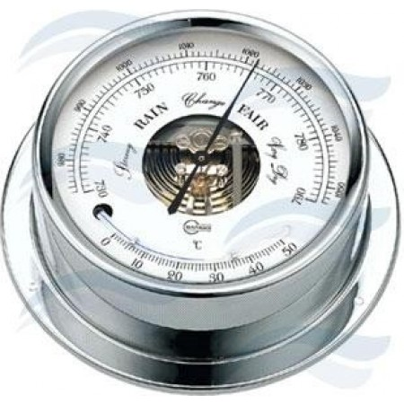 Barómetro/ Termómetro Cromado
