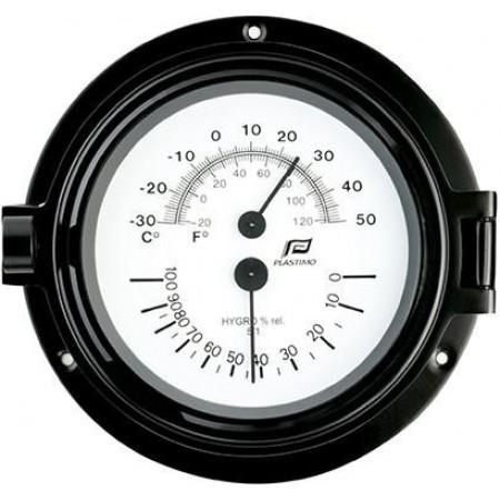 Termometro/higrómetro 4.5 Polegadas com Caixa Preta