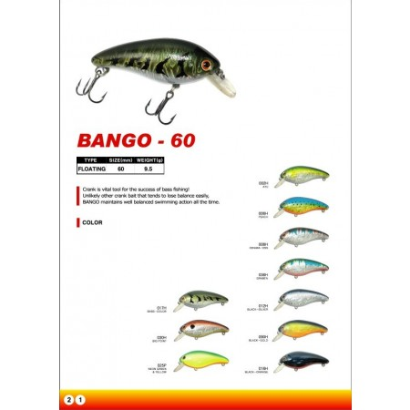 Bango 60 mm 9.0 g Flotante
