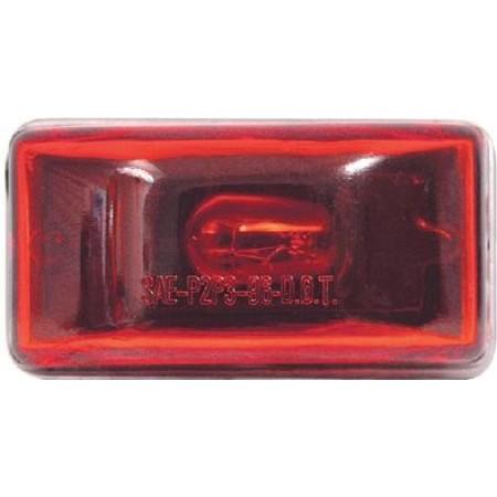 Luz de aviso/indicação vermelha com parafuso