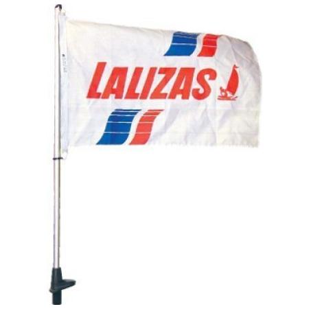 Porta bandeira branco 1m