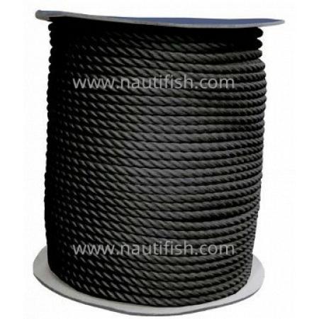 Cabo de amarração 200m preto 12mm