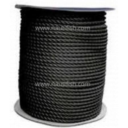 Cabo de amarração 200m preto 10mm