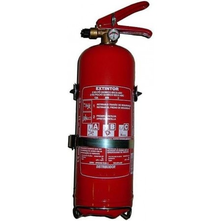 Extintor pó quimico ABC 1 kg (c/ manómetros)