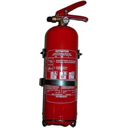 Extintor pó quimico ABC 2 kg (c/ manómetros)