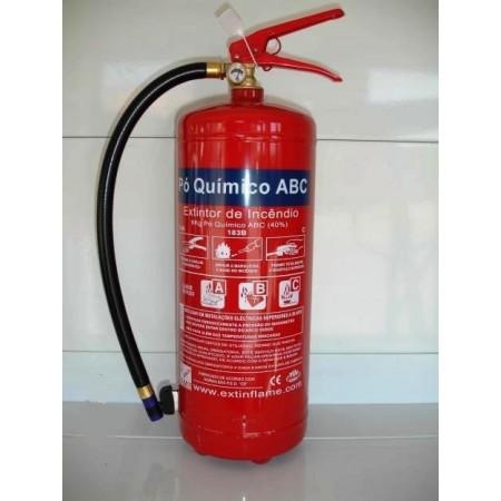 Extintor pó quimico ABC 6 kg (c/ manómetros)