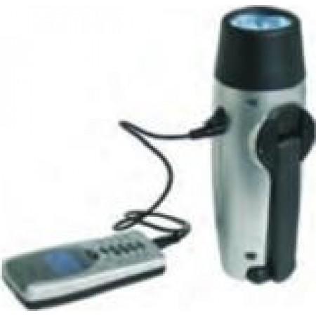 Lanterna com carregador de telemovel e luz de interior