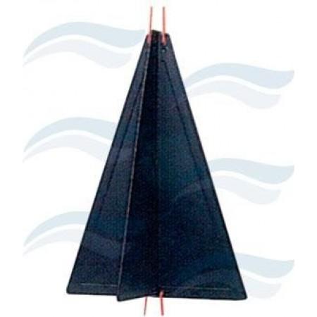 Cone de sinalização preto