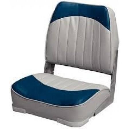 Banco Rebatível Cinza/Azul Marinho- Wise Seating
