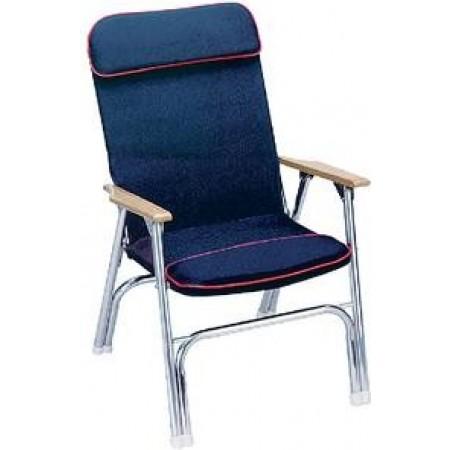 Cadeira Dobrável coberta em Lona Azul - Seachoice
