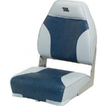 Assento Encosto Alto Sem placa Cinza/Vermelho- Wise Seating