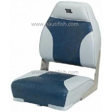 Assento Encosto Alto Sem placa Cinza/Marinho - Wise Seating